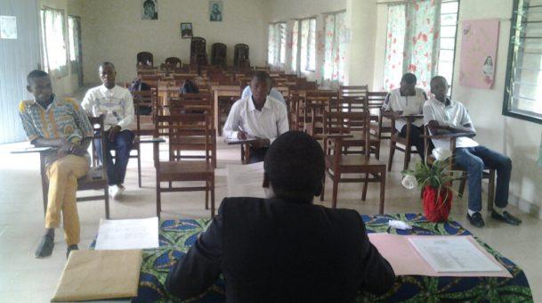 Test d'admission au séminaire propédeutique st Adolphe Mukasa