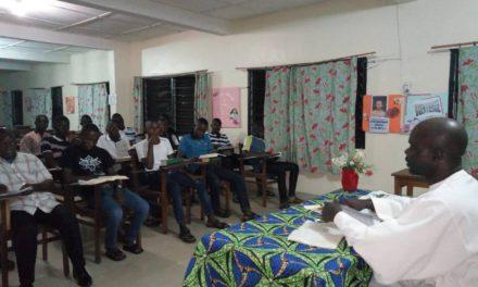 Laba: Les petits séminaristes finalistes en retraite à Nto-Luzingu.