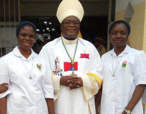 Vœux perpétuels de la sœur Alida Patricia Maza et de la sœurCatherine Kafuti Ntanda.